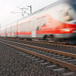 Train blur — Stock Photo