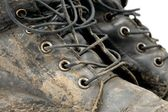 Muddy Boots — Stock Photo