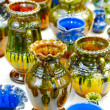 Stock Photo: Pretty decorated ceramic vases