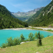Summer Alpine mountain lake landscape — Stock Photo