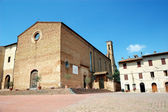 Square in San Gimignano, Italy — Stock Photo