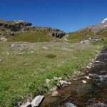 Alpine mountain river landscape — Stock Photo