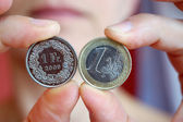 Euro and Swiss Franc — Stock Photo