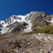 Summer view of Monte Rosa glacier — Stock Photo