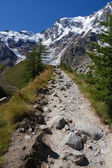 Trail to Monte Rosa — Stock Photo