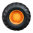 Tractor tire on white background — Stock Photo