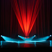 Illumination of a stage — Stock Photo