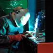 Royalty-Free Stock Photo: Welding of metal by argon