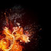 Fire Swirl — Stock Photo