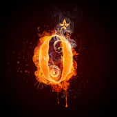 Fire Swirl Number ZERO — Stock Photo