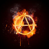 Fire Swirl Anarchy — Stock Photo
