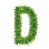 Grass Alphabet A-Z — Stock Photo