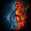 Treble Clef — Stock Photo #5691496