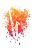 Watercolor Saxophone — Stock Photo