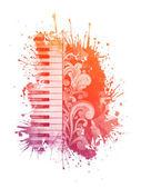水彩钢琴 — 图库照片