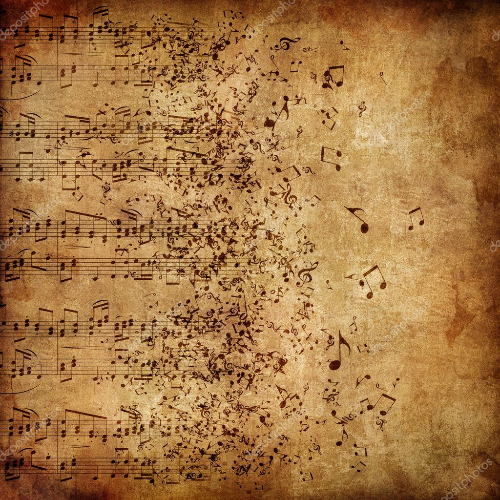 Old Paper. Retro Music Texture Background. Vector.  Stock Photo #5817399