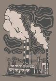 Fabrik — Stockvektor