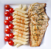 Chicken and Pasta — Stock Photo