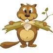 Royalty-Free Stock Vectorielle: Cartoon Character Beaver