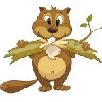 Cartoon Character Beaver — Stock Vector #6415509