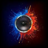 Akoestische luidspreker — Stockvector