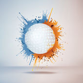 Golf Ball — Stock Vector