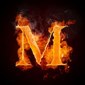Fire Letters A-Z — Stock Photo