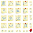 Sticker Icon Set — Stock Vector