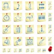 Sticker Icon Set - Stock Vector