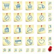 Stock Vector: Sticker Icon Set
