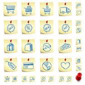 Sticker Icon Set — Stock Vector