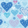 Winter hearts — Stock Vector