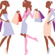 Shopping girls — Stock Vector #5400201