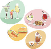Food and Drinks set — Stock Vector