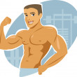 Muscle man — Stock Vector