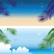 Tropical banners — Stock Vector