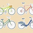 Bicycles — Stockvektor