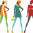Sixties girls — Image vectorielle