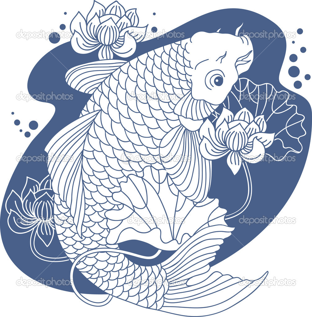 Carpe en tang image vectorielle zubada 5779624 for Carpe chinoise prix