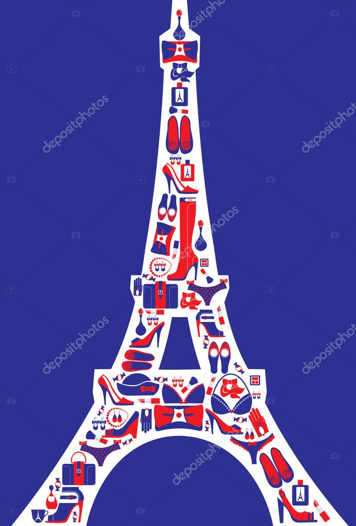 French fashion concept  Stock Vector #5779625