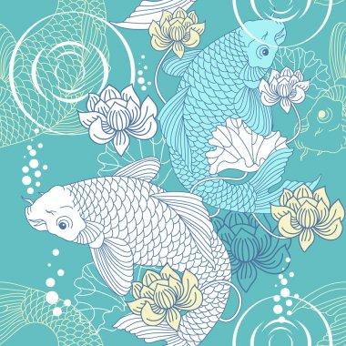 Koi carp pattern