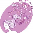 Royalty-Free Stock Vector Image: Female thoughts