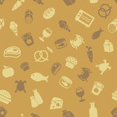 Food icons seamless pattern — Stock Vector