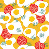 Fried eggs seamless pattern — Stock Vector