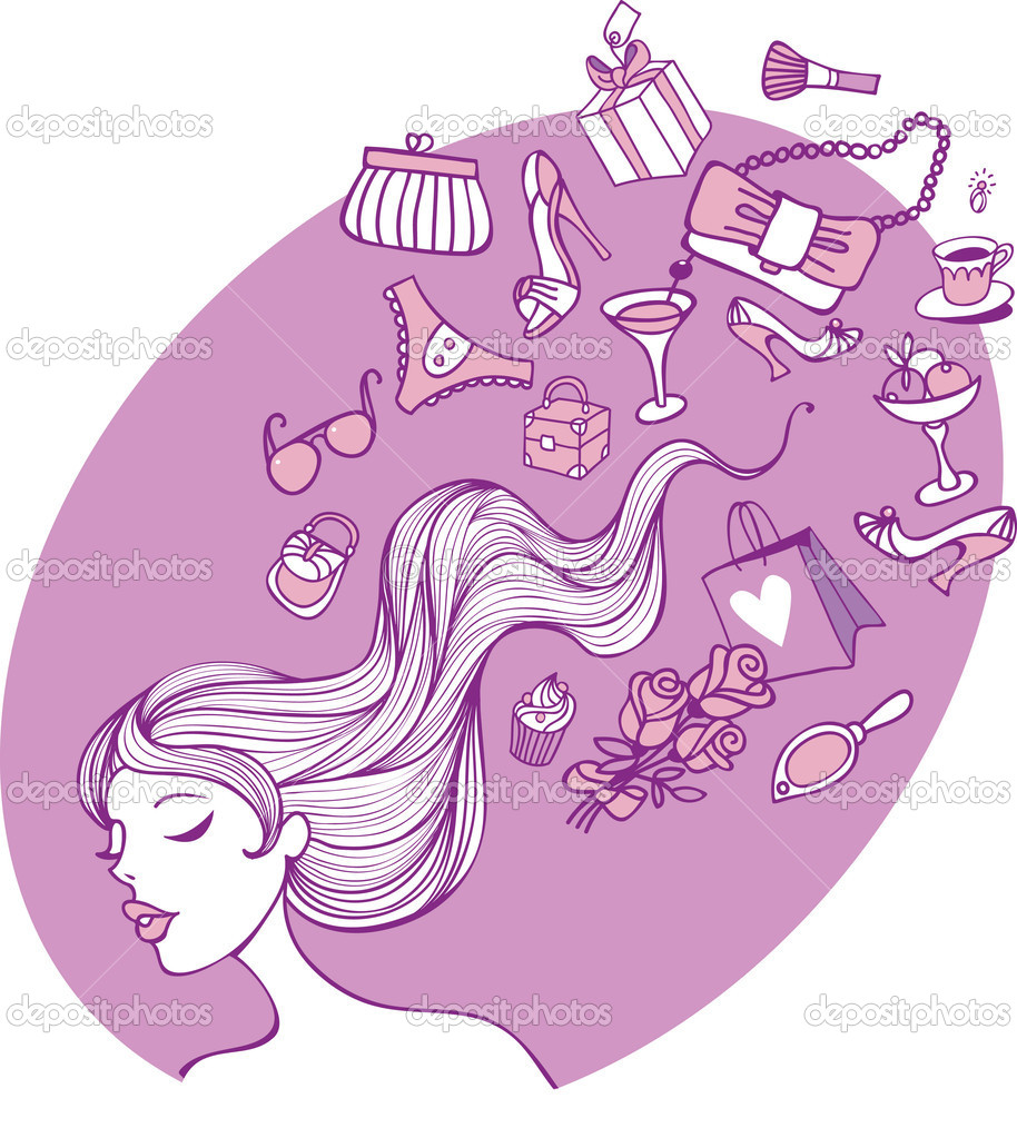 Female thoughts  Stock Vector #6411369