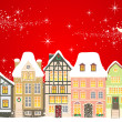 Christmas town - Stock Vector