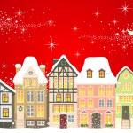 圣诞小镇 — 图库矢量图片