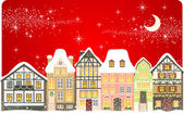 Christmas town — Stock Vector