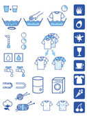Detergent powder symbols — Stock Vector