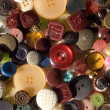 Collection of various vintage buttons — Stock Photo